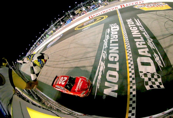Matt Kenseth! A great rally to win the Southern 500, on a disappointing night for Kyle Busch
