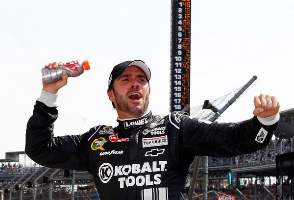Jimmie Johnson routs the field at Indianapolis in winning the Brickyard 400