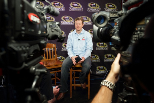 Denny Hamlin may be the new championship favorite, following NASCAR's unexpected rules change. But it is a poignant Dale Earnhardt Jr. who just stole the show