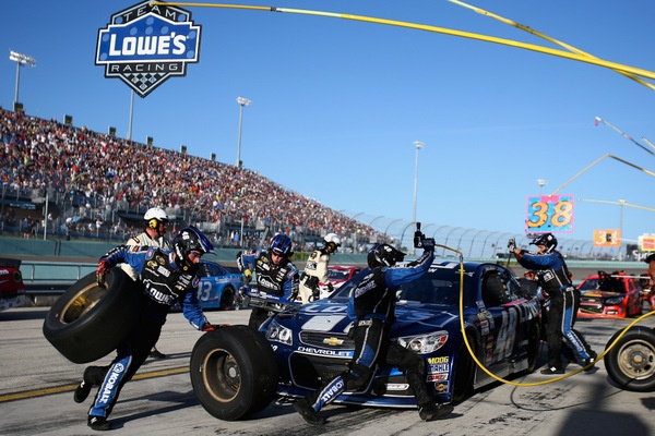 It's Jimmie 'Six-pack' Johnson now, winning his sixth NASCAR championship in a smooth cruise
