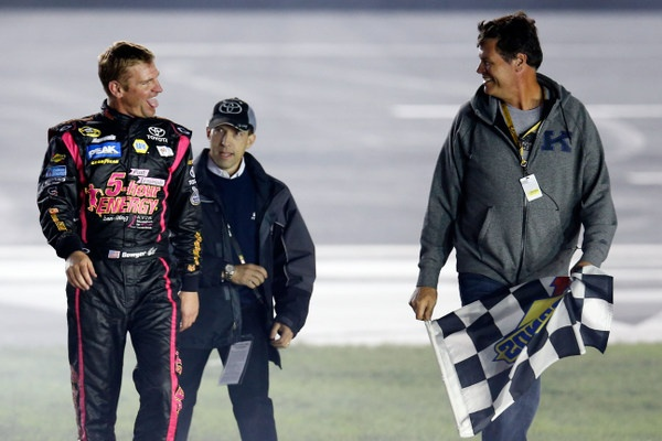 Whoooeee! Clint Bowyer is on a roll, and he's thinking championship charge after winning the Charlotte 500