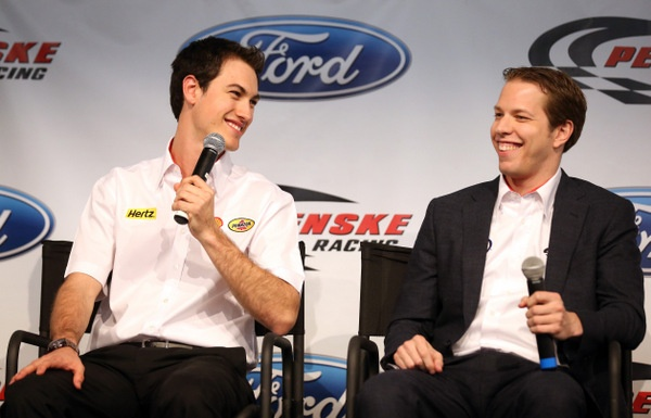 The 'new' Joey Logano: The kid has certainly toughened up. Credit his new teammate? But, hey, looks like another Jimmie Johnson 500