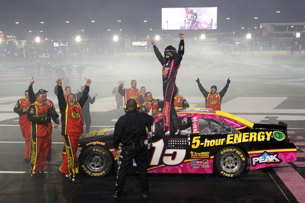 Clint Bowyer wins the gamble at Charlotte, Keselowski loses, and the NASCAR championship is a three-man chase heading to Kansas
