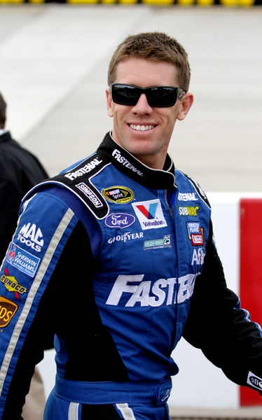 Carl Edwards: still trying to get traction. Maybe Kansas will be charmed
