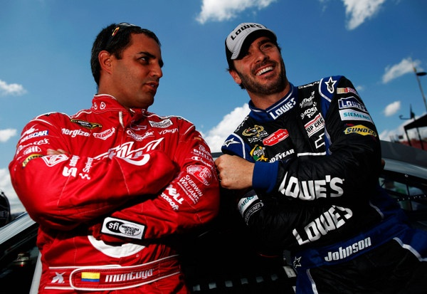 Jimmie Johnson still miffed over that Dover blackflag...but Juan Pablo Montoya is laughing at the furor