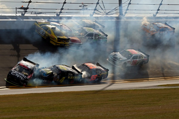 Michael Annett hopes Monday's medical exam shows good healing in Daytona injuries