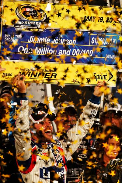 Jimmie Johnson blitzes the field to win an oddly uneventful All-Star race