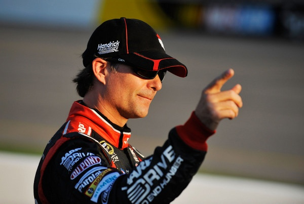 Jeff Gordon is ecstatic, making the playoffs....Kyle Busch crushed and angry at missing the chase