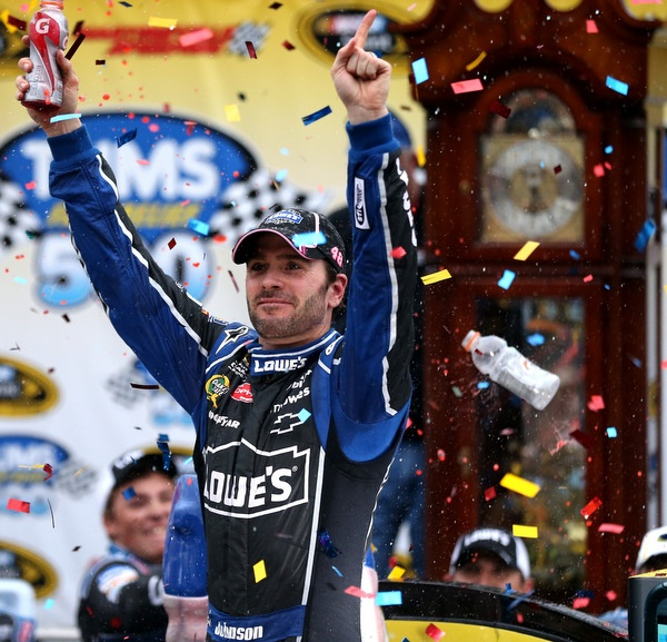 It's Martinsville, and what time is it? It's Jimmie Johnson Time, and he's on the front row here for Sunday's 500. But what's the real deal on those Texas tires?