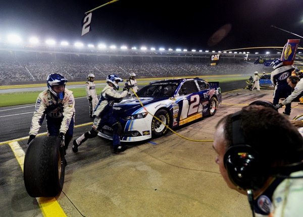 Brad Keselowski! Finally the champ wins again, in a stirring battle